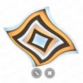 Geometria Quarto Светильник светодиодный потолочный