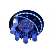 8525CR-BK/5+1 Светильник потолочный с ПДУ