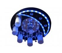 8525CR-BK/5+1 Светильник потолочный с ПДУ (Уценка с витрины)