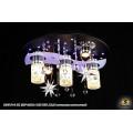 10307/3+2 BK (E27+MR11+LED RBP, ПДУ) Светильник потолочный с ПДУ
