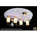 10308/4+2 WT (E27+LED RBP, ПДУ) Светильник потолочный с ПДУ