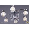 1070/6 CR (LED WT+E14+с дист. выкл.) Светильник потолочный с ПДУ