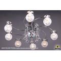 1070/8 CR (LED WT+E14+с дист. выкл.) Светильник потолочный с ПДУ